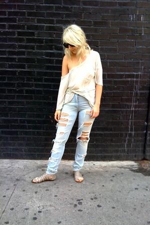 t-shirt - H&M jeans - Dolce Vita Ellie shoes
