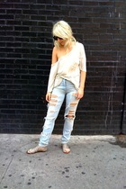 t-shirt - H&M jeans - Dolce Vita Ellie shoes