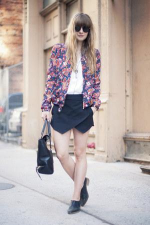 Topshop boots - Zara jacket - 31 Phillip Lim bag - Zara shorts