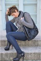 Miu Miu heels - Guess jeans - Rick Owens jacket - calvin klein bag