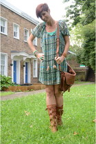 tawny HECTOR boots - turquoise blue orion london dress