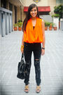 Orange-bought-from-a-bazaar-top-black-stylebreak-jeans-black-michael-antonio