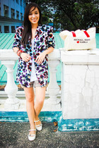 white printed bought online blazer - white flats Charles and Keith shoes
