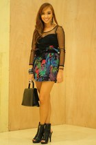 skirt - black used as a top dress - black heels