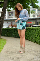 blue Forever 21 top