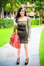 Gold-glitterati-dress-black-janilyn-shoes-red-purse