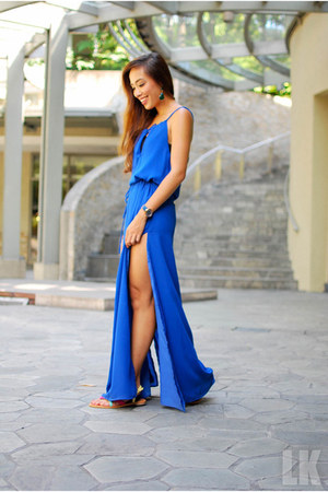 blue apartment 8 dress