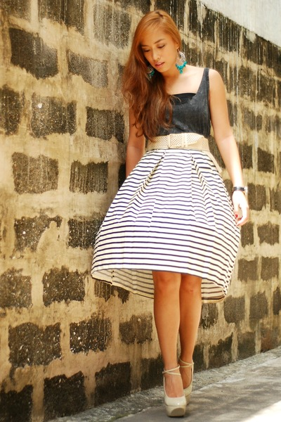 striped The Ramp skirt
