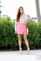 bubble gum Forever 21 skirt