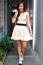 peach Topshop intimate - beige Forever 21 skirt - white bought online shoes