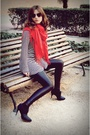 Black-zara-shoes-black-zara-leggings-black-zara-shirt-red-scarf