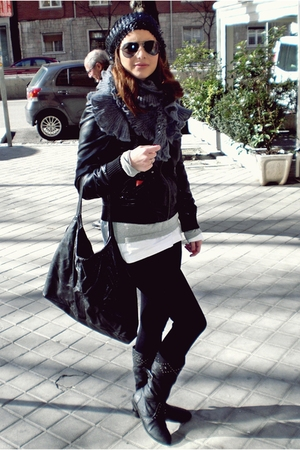 black unknown boots - black BLANCO jacket - black BLANCO - black BLANCO hat