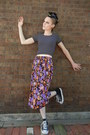 Vintage-skirt-american-apparel-top-converse-sneakers