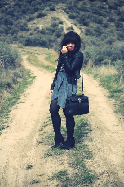 Suzy Shier jacket - Forever 21 boots - everly dress