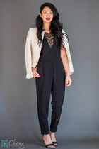 jumpsuit Urban Outfitters jumper - H&M blazer - asos heels