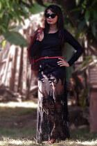 black OASAP dress - black OASAP accessories