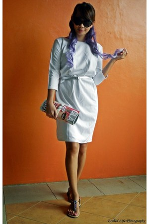 ivory OASAP dress - violet hair extension OASAP accessories