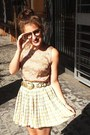 Tan-primark-blouse-lime-green-vintage-skirt-gold-vintage-belt