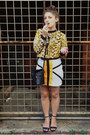 Gold-chain-print-tanouk-jumper-off-white-tanouk-skirt