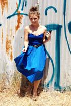 blue vintage swimwear - blue volcom skirt