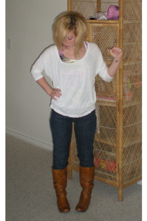 American Apparel top - Mossimo top - Gap jeans - Steve Madden boots