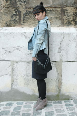 black Zara accessories - blue DKNY vest