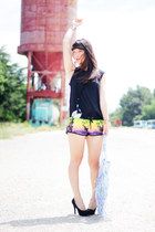 Undiz shorts - bag Urban Outfitters accessories - Samsoe & Samsoe top