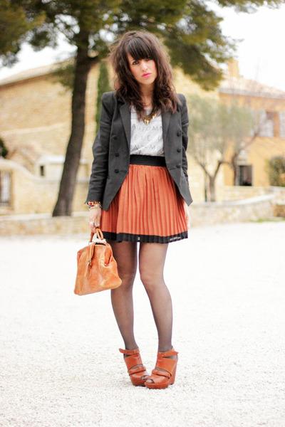 burnt orange vintage bag - black Icode by ikks blazer