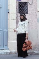 beige Zara top - black Guess Jeans dress - Ebay bag