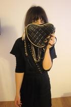 black Primark accessories - black Mango dress