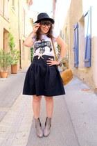 les petites parisiennes shoes - Zara skirt - byjooy t-shirt