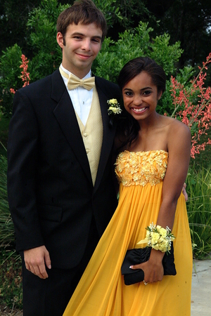 yellow Jovani dress