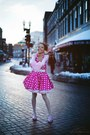 Pink-halter-modcloth-dress-white-unknown-stockings-pink-sof-unknown-cardigan
