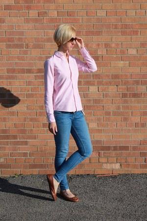 madras J Crew belt - skinny Guess jeans - hobo calvin klein bag