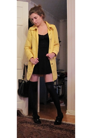 Marc by Marc Jacobs coat - Urban Outfitters dress - f21 socks - Target shoes