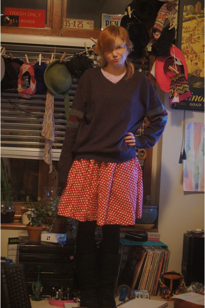 Kirkland boots - Gap sweater - missoni for target tights - homemade skirt