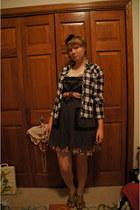 black dress - black jacket - sky blue belt - bubble gum under dress skirt