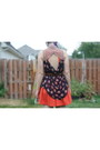 Orange-cooperative-dress-black-betsey-johnson-socks-maroon-converse-belt