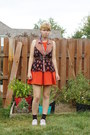 Orange-cooperative-dress-black-betsey-johnson-socks-tan-lush-top