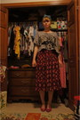 Raccoon-top-shop-top-vintage-skirt-headband-urban-outfitters-accessories