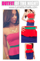red peplum dress dress