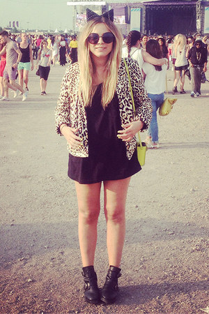 leopard print Topshop blazer - cat ears Boohoo accessories