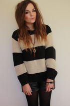 Primark sweater - leather Primark shorts - gold Zara Taylor necklace