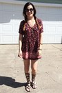Kimono-urban-outfitters-dress-kylie-kendall-pacsun-sunglasses-dsw-sandals