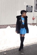 vintage penelopes vintage t-shirt - Tahari boots - leather Zara jacket