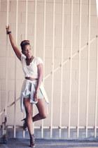 Urban Outfitters t-shirt - BCBGeneration shirt - Zara heels
