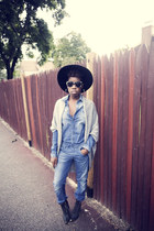 denim jumpsuit gstar raw jumper - boots jeffrey cambell boots