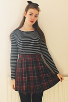 tartan new look skirt - new look top - Accessorize necklace