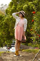 peach American Apparel dress - light blue slip vintage dress