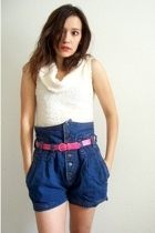 the original 80's high waist jean shorts